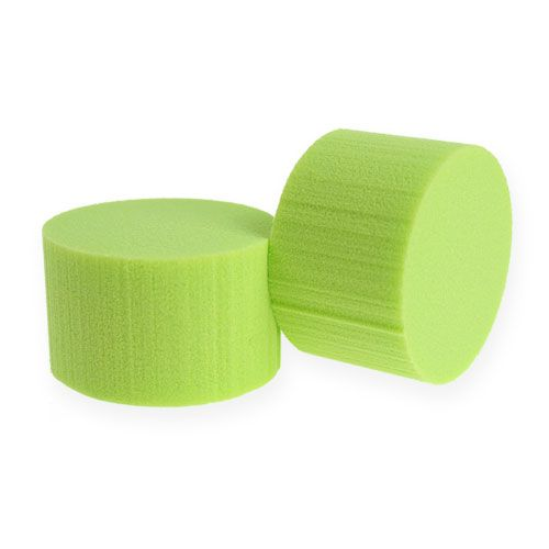 Plug-in cylinder Cylinder Ø8cm Green 6pcs