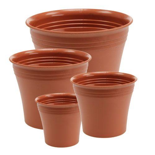 "Planter ""Michele"", terracotta effect, Ø 8.5 - 22cm, 1Pc"