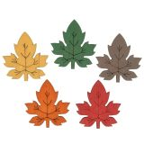Maple leaf colorful to sprinkle 3,5cm 72pcs