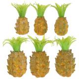Artificial fruit Mini-pineapple H6.5cm - 8cm 6pcs