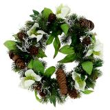 Christmas rose wreath Ø30cm