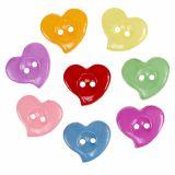 Decorative buttons heart shape Ø2,2cm 200pcs