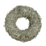 Decorative wreath, moss wreath gray Ø30cm 1p