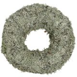 Deco wreath, moss wreath gray Ø38cm 1pc