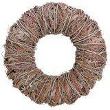 Decorative wreath nature Ø43cm whitewashed