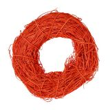 Decorative wreath orange made of rattan Ø20cm
