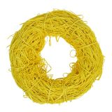 Rattan deco wreath Ø20cm yellow