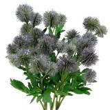 Thistle Silk Flower Blue 56cm 3pcs
