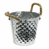 Bucket with rope handles Ø16cm H15cm