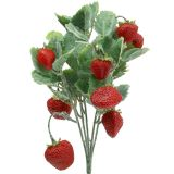 Artificial Strawberry as Pick Red L30cm