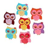 Owls to scatter 2cm multicolored 100pcs