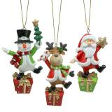 Christmas figures 9cm - 11cm to hang 3pcs