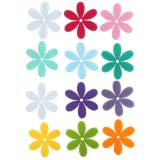 Felt flowers 4.5 cm 36 pieces of different colors felt blossom for scattering and gluing