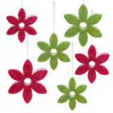 Felt flower mix for hanging Ø15-24cm 6pcs
