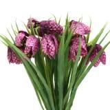 Checkerboard flowers Fritillaria artificial purple 29cm 6pcs