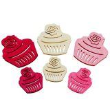 Wooden cupcakes 4cm - 6cm ass. 24st