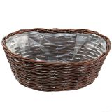 Basket oval for planting nature 34cm