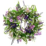 Wreath of chessboard flower / lavender / lilac Ø28cm