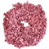 Wreath Oak leaves pink waxed Ø38cm