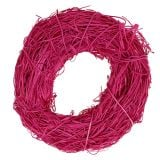 Rattan wreath Ø20cm Pink 1pc