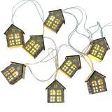 LED fairy lights houses battery powered