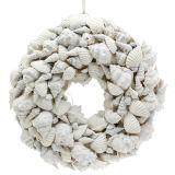 Shell wreath white Ø30cm