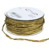Paper cord gold without wire Ø3mm 40m