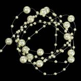 Pearl necklace champagne Ø3 - 8mm L3m