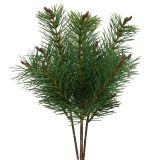 Artificial pine branch green 33cm 4pcs