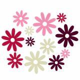 Decoration to control Felt Flower Mix Ø3cm - 7cm 72pcs