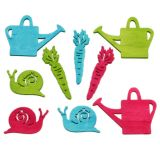 Scatter Decoration Watering Pot Snail Carrot Multiple colors Assorted 4cm - 6cm 72pcs