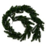 Fir garland round green 190cm