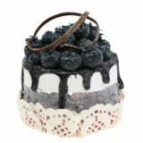 Decorative cupcake blueberry food replica 7cm