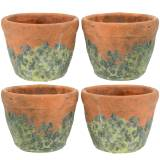 Plant pot planter vintage natural clay Ø8.5cm H7cm 4pcs