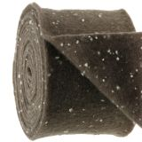 Potband felt tape brown with dots 15cm x 5m