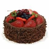 Chocolate cream cake artificially Ø15cm H11,5cm