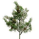 Juniper branch with cones green 39cm 3pcs