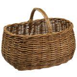 Wicker Basket Oval 48cm x 34cm H25cm