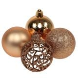 Christmas ball copper gold Ø6cm 16pcs