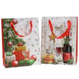 Gift bag Christmas 8cm x 18cm x 24cm set of 2