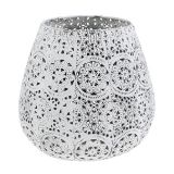 Candle jar White Ø19cm H18,5cm