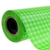 Cuff paper check may green 25cm 100m