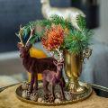 Decorative cup with handles golden Ø11cm H17.8cm antique look