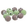Deco-Pearls Green, Brown Ø2cm 53pcs