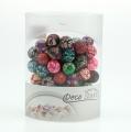 Decorative pearl variegated 1,9cm 60pcs